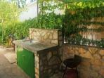 Outside kitchenette
