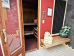Master bathroom sauna