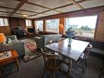 Lower level dining area for 7 with ocean views