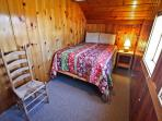 Upper level bedroom with a Double bed