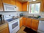 Fully equipped kitchen with all appiances and beautiful ocean views.