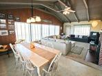 Upper level dining area for 8 with ocean views