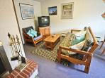 Lower level-entry-family room with cable TV/DVD player, Queen futon, wood burning fireplace, game table for 4...