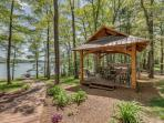 Spa and Picnic Area overlooking lake
