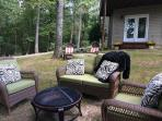 Comfy Outdoor Seating Area with Fire Pit (wood provided)