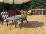 Large deck to enjoy the outdoors, newly renovated in 2015