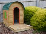 There is also a cubby house for the kids to play in