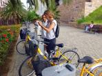 Discovering the city by bike