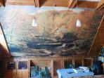 Mural on dining room wall