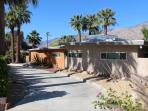 Hip, Mid Century home surrounded by 23 palms.