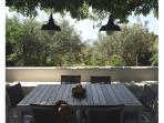 tavolo in terrazza (allungabile: 6-8 persone)