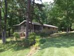 Mom's Cabin is situated on a secluded, wooded lot