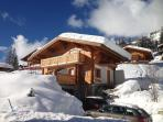 Chalet Campanule with plenty of room for parking on the drive