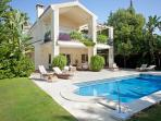 Rear of Villa and Pool Area