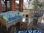 New porch pillows for the new season - perfect place to read and relax!