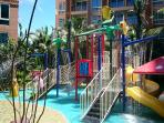 Water park and slides for children