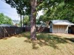 Wonderful level lot for playing under the shade of the Pecan tree.
