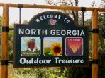 The sign says it all ... North Georgia and NC Outdoor Treasures