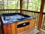 Hot tub for relaxing.