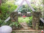gate to the back garden