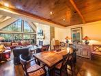 A vacation condo in Vail Village with beautiful views of Vail Mountain on the banks of Gore Creek, and a private roof-top hot tub.