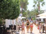 The gorgeous pedestrian area of Cala D'Or