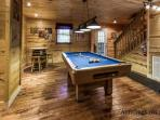 Pool Table Room with Jack Daniels Barrel Table