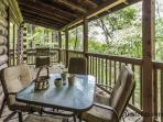 Private outdoor dining with outdoor chef's gas grill