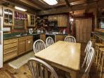 Cabin Kitchen and dining area