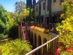 Lush gardens that bloom year round.  Viva California.  Italian villa rental in the Hollywood Hills.