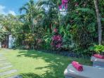Beautiful tropical garden of the villa