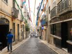 Street of Bairro Alto - one of the most visited streets in Lisboa