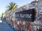 74 Marine sign on outer wall