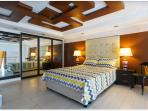 Bedroom with pull away bed