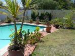 Pool Area in front garden