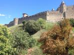 Magnificent Carcassonne castle on the doorstep.