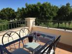 Balcony - Ideal place to enjoy evenings and play a card game