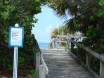 Quite and alluring gulf cost beach entrance