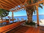 Luxurious enjoyment!   Beautiful pergola next to a small beach provide a unique experience...