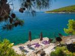Sunny swimming deck