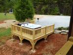 The hot tub is all ready for your relaxation
