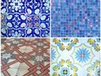 Unique and luxury style with Mediterranean tiles, antique cement tiles, mosaic