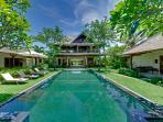 Villa Asmara - View across pool to main house