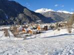 panorama invernale Predazzo