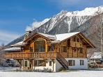 Chalet Cerisier in front of the Flegere ski area of Chamonix