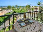 Enjoy your morning coffee and evening cocktails on the ocean-view lanai