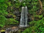 Hendhry falls the tallest waterfall in southern Britain 20 mins drive in the upper swansea valley