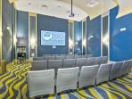 movie theater at oasis club (FREE to use, just reserve at concierge desk)