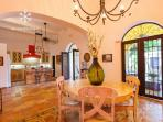 Dining area offers plenty of room for entertaining in true Yucatecan style.