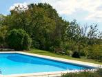 Relax by the deep 10m x 5m pool overlooking the lush green valley below.